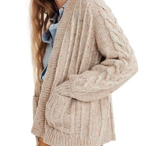 MADEWELL bubble sleeve cable cardigan S